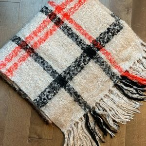 Urban Outfitters Boucle Extra Long Plaid Scarf